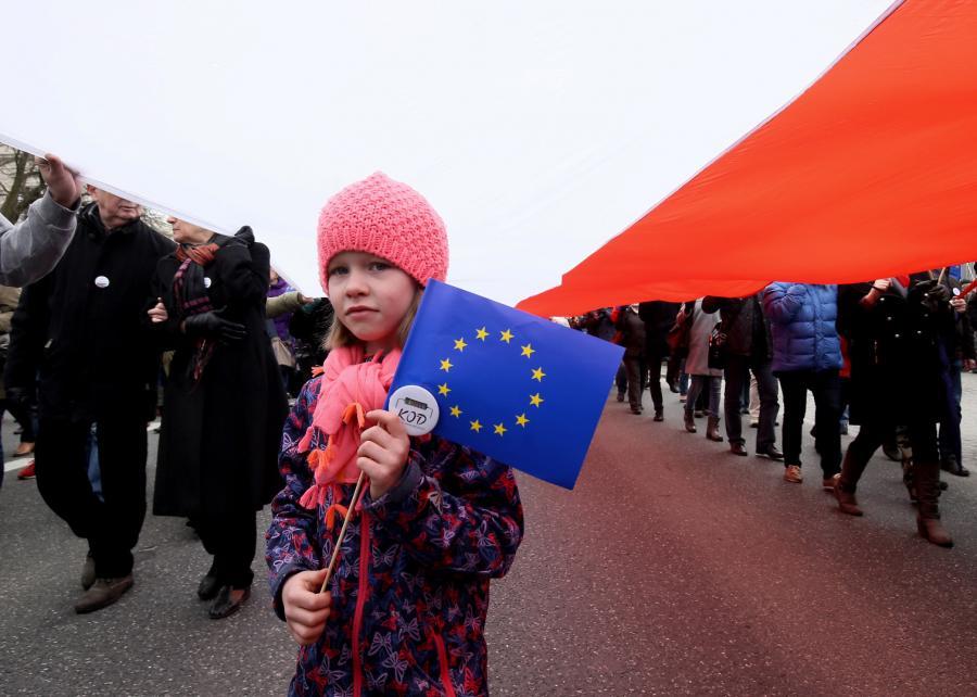 Uczestnicy Marszu dla Europy