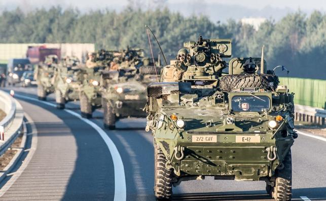 Kolumna NATO w okolicach Sieradza