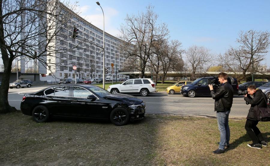 BMW, którym jechał wiceszef MON miało stłuczkę w Warszawie