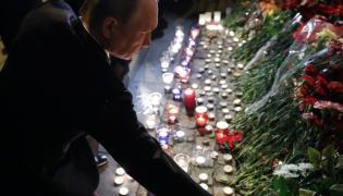 Putin załoba po zamachu Petersburg Rosja