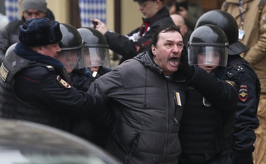Aresztowania uczestników protestu opozycji w Moskwie