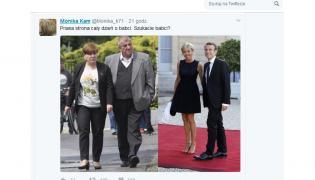 Beata i Edward Szydłowie oraz Brigitte Trogneux i Emmanuel Macron;