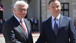 Prezydenci Polski i Niemiec - Andrzej Duda oraz Frank-Walter Steinmeier