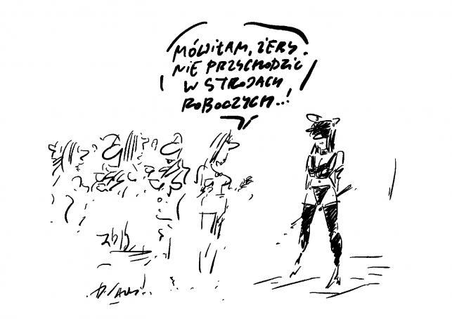 Strój służbowy / rys. Henryk Sawka