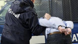 Policjant w trakcie zatrzymania