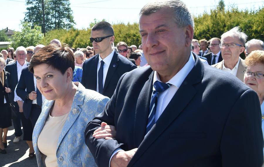 Beata Szydło z mężem