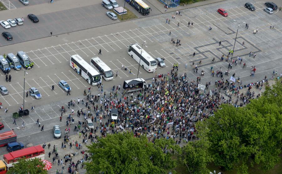 zbiórka przed protestem