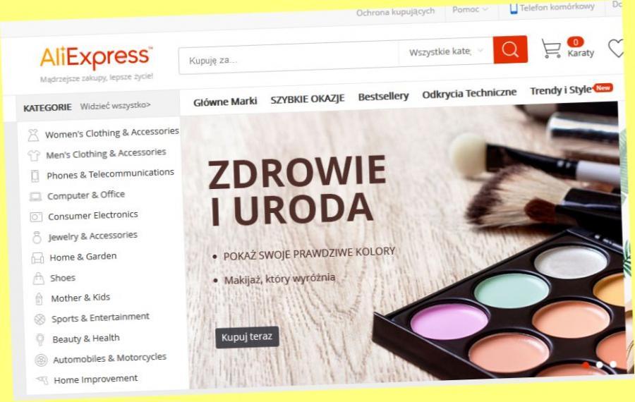 Strona sklepu AliExpress