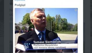 """Podpis na belce w """"Wiadomościach"""" TVP"""