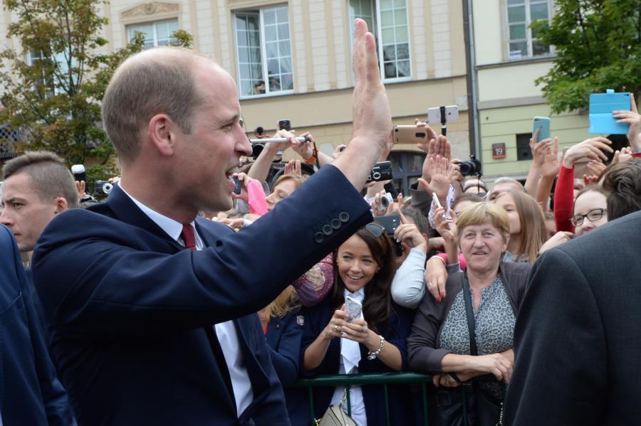 Książę William na Krakowskim Przedmieściu w Warszawie