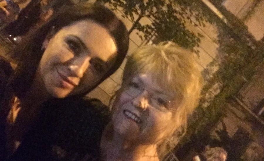 Beata Tadla z siostrą Krystyny Pawłowicz