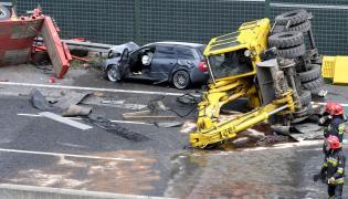 Wypadek na autostradzie A4 w Zabrzu