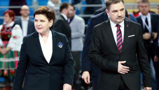 """Premier Beata Szydło i przewodniczący NSZZ """"Solidarność"""" Piotr Duda"""