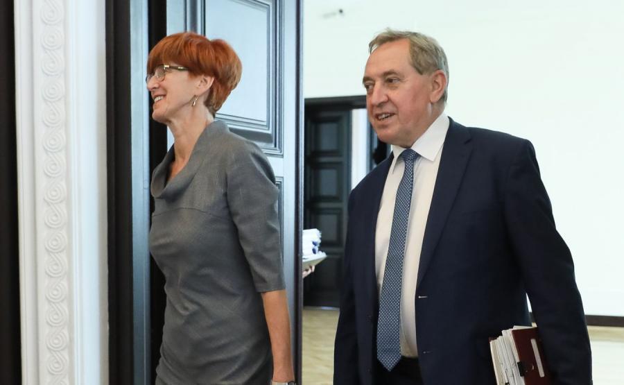 Elżbieta Rafalska i Henryk Kowalczyk