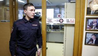 Policjant w redakcji Echo Moskwy