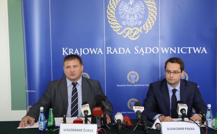 Waldemar Żurek i Sławomir Pałka z KRS