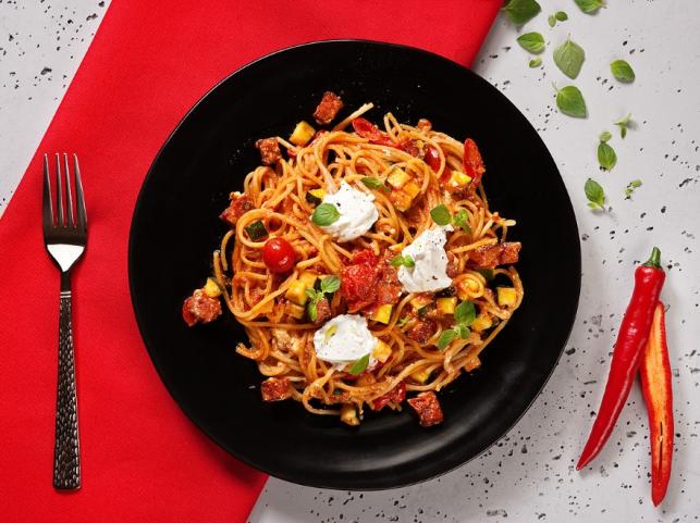 Przepis Na Spaghetti Z Kiełbasą Pepperoni I Ricottą