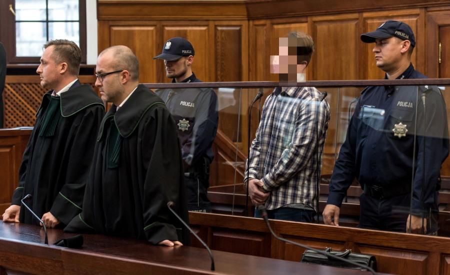 Paweł R. podczas ogłaszania wyroku