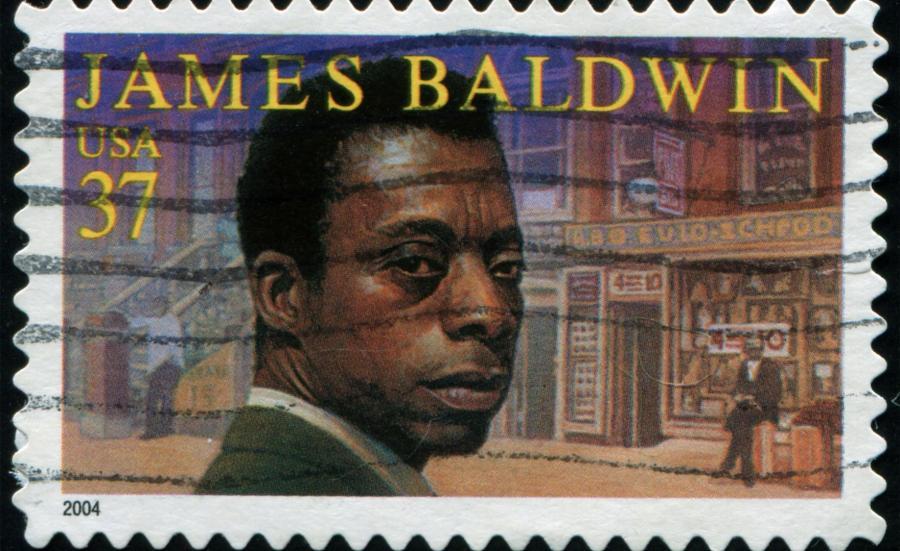 James Baldwin na amerykańskim znaczku pocztowym