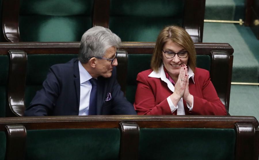 Beata Mazurek i Stanisław Piotrowicz