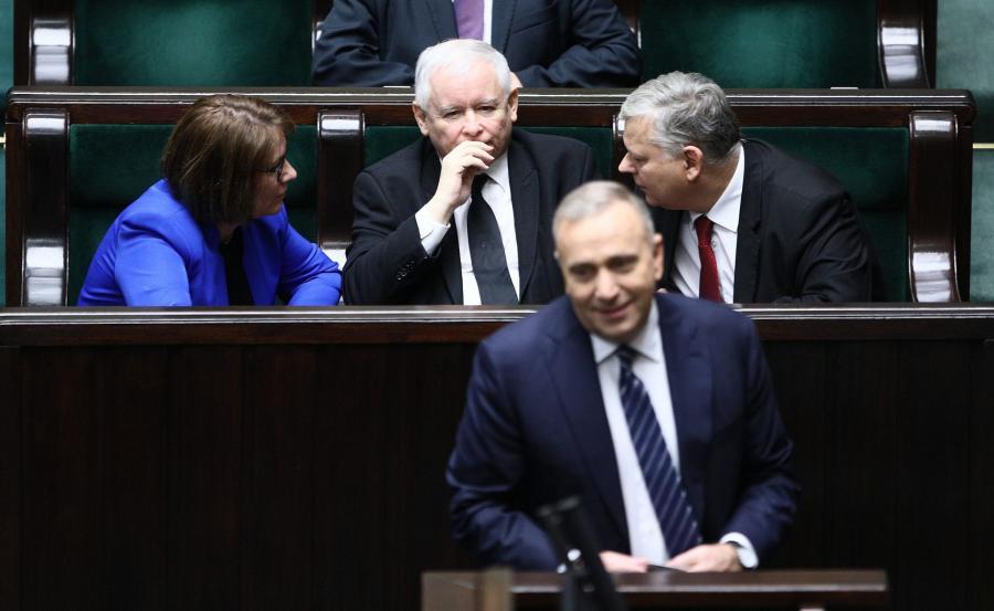 Grzegorz Schetyna, Beata Mazurek, Jarosław Kaczyńki, Marek Suski