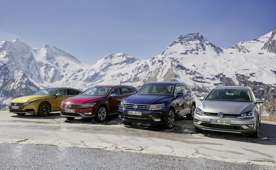 Volkswagen Arteon, Passat Alltrack, Tiguan R-Line i Golf Alltrack