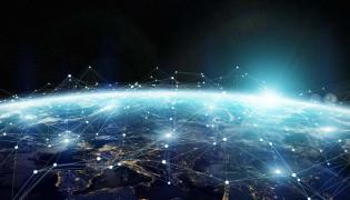 świat kula ziemska gospodarka internet