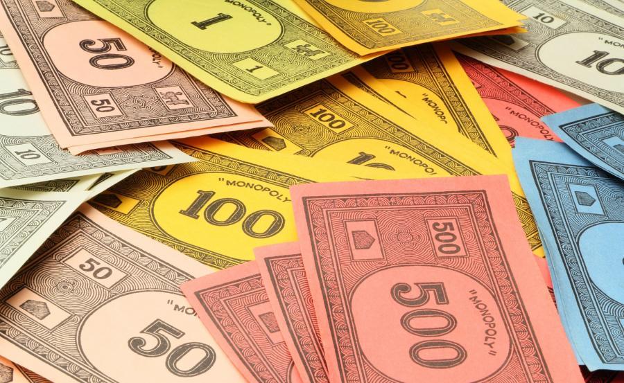 Banknoty z gry Monopol