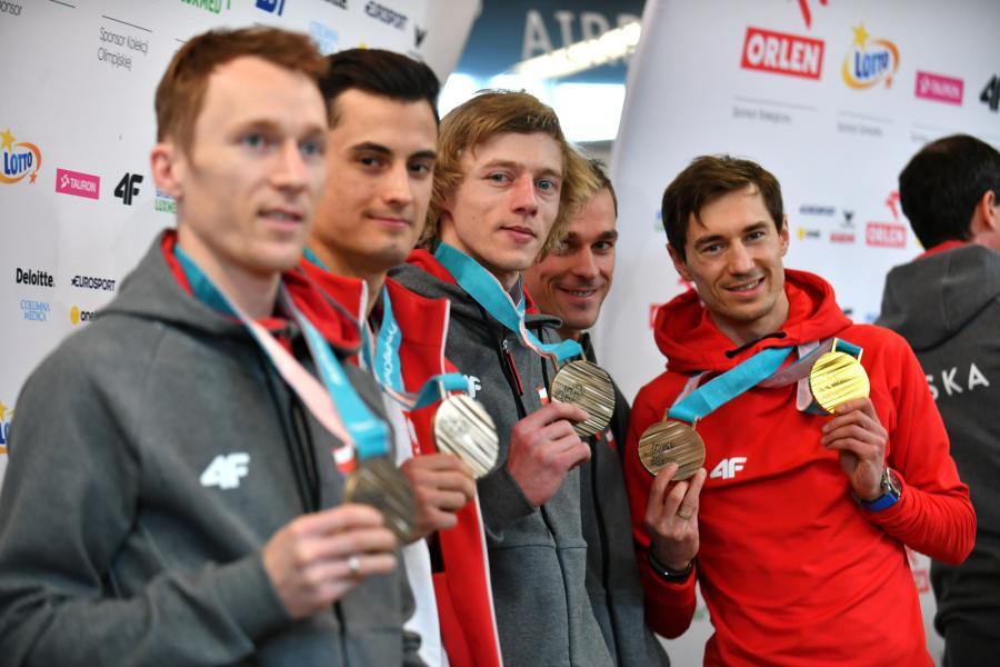 Stefan Hula, Maciej Kot, Dawid Kubacki, Piotr Żyła i Kamil Stoch