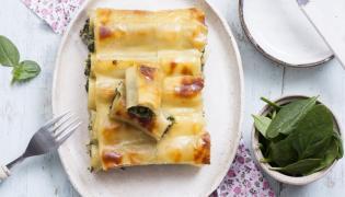Cannelloni ze szpinakiem, czosnkiem i serem