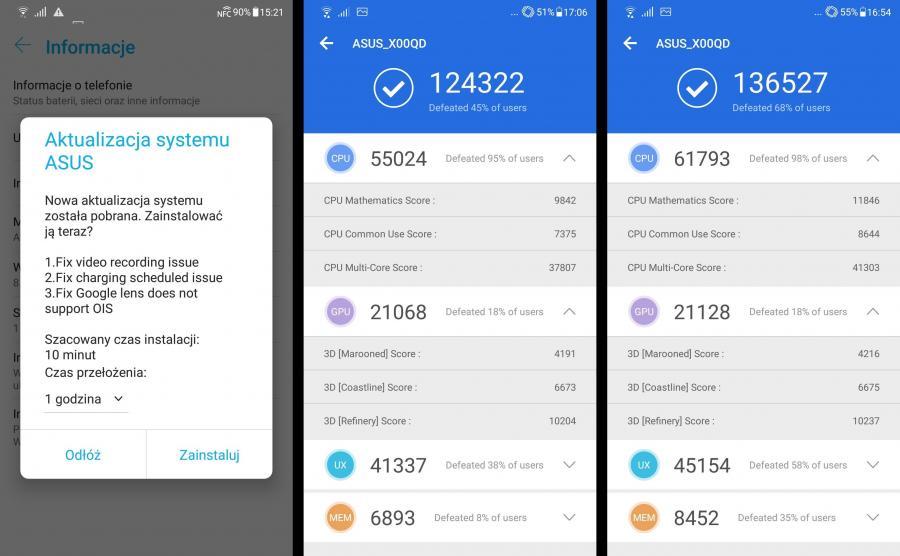 Asus Zenfone 5 - Antutu Benchmark, aktualizacja