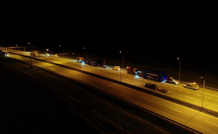 Transport autostradą A4 odbywał się wyłącznie w nocy