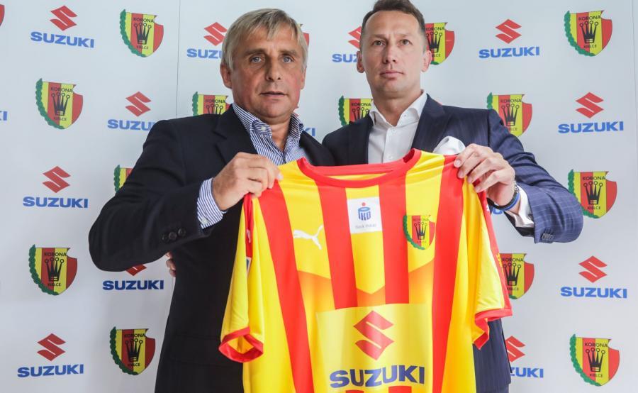 Krzysztof Zając, prezes Korony Kielce i Piotr Dulnik, szef Suzuki Motor Polska