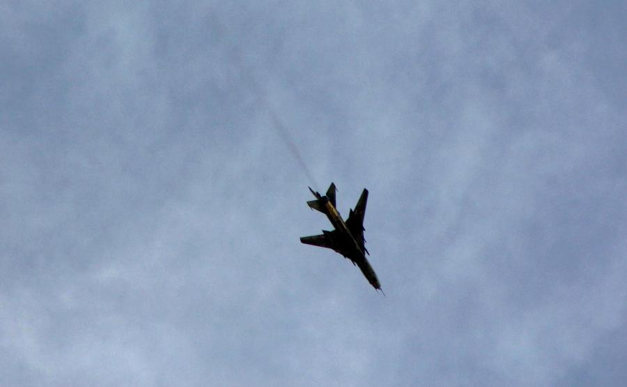 Zestrzelony samolot / zdjęcie poglądowe