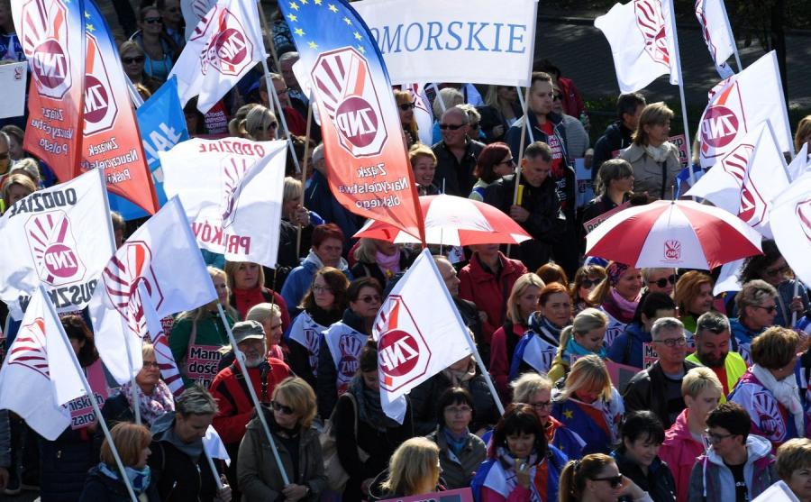 Protest ZNP w Warszawie