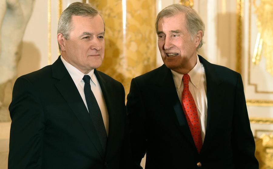 Minister kultury Piotr Gliński i Adam Karol Czartoryski