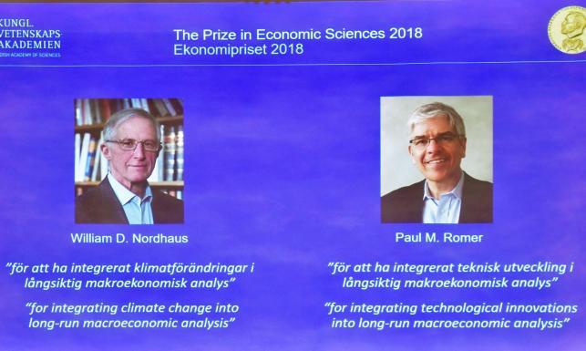 Zmiany klimatu i innowacje technologiczne w makroekonomii. Ogłoszono laureatów Nagrody Nobla w dziedzinie ekonomii