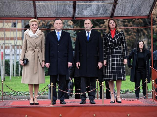 Agata Kornhauser-Duda i Andrzej Duda oraz Rumen Radew i Desislava Radeva