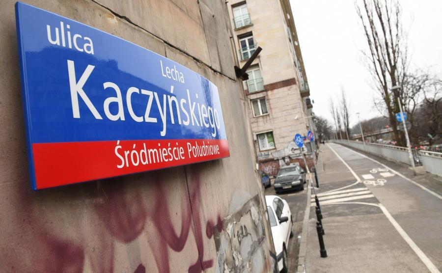 Zdemontowane już tablice z ul. Lecha Kaczyńskiego