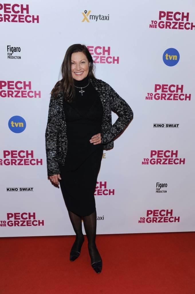 """Liliana Głąbczyńska-Komorowska na premierze filmu """"Pech to nie grzech"""" 17 grudnia 2018"""