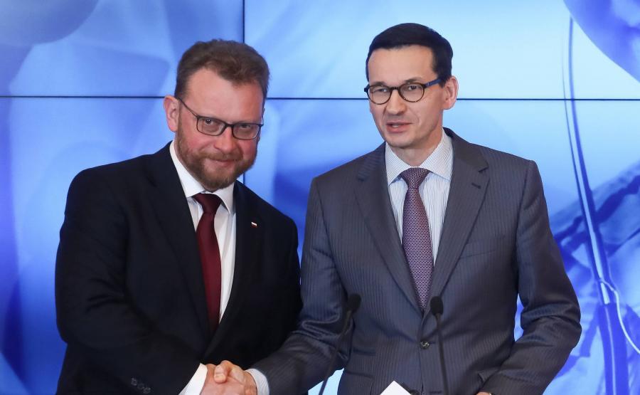 Łukasz Szumowski Mateusz Morawiecki