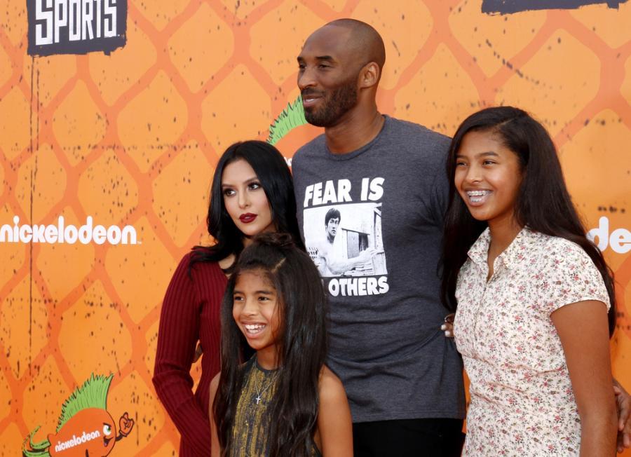 Kobe Bryant z rodziną