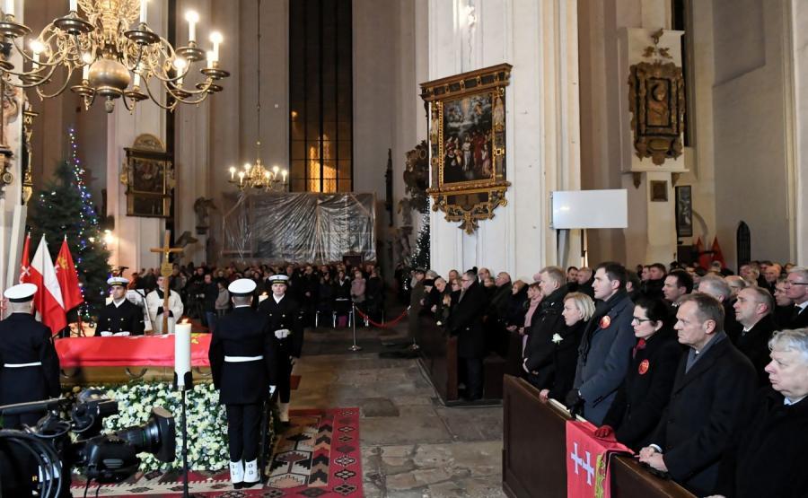 Bazylika Mariacka, msza w intencji Pawła Adamowicza