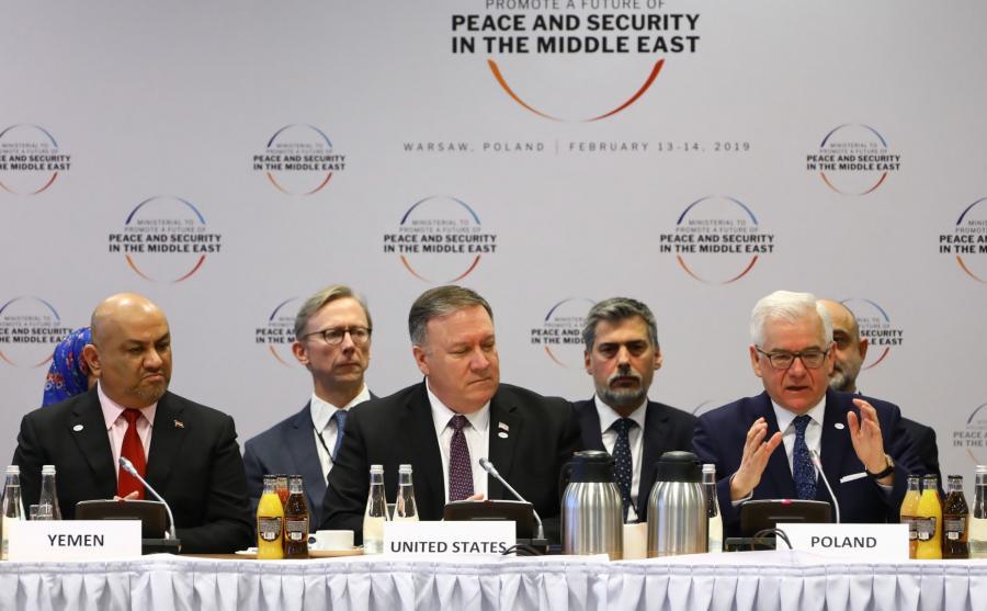 Jacek Czaputowicz, Mike Pompeo, Khaled al-Yamani