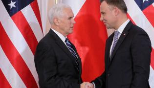 Wiceprezydent USA Michael Pence i prezydent RP Andrzej Duda