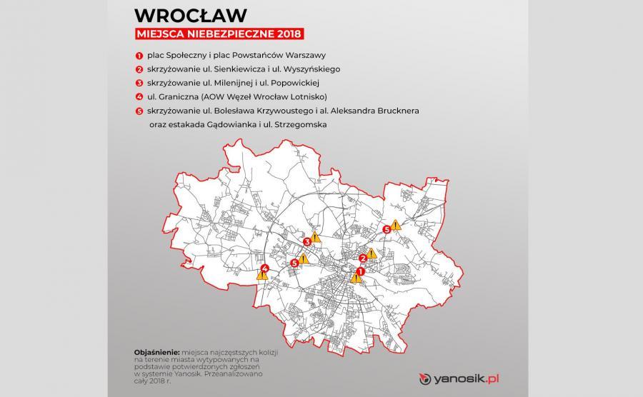 6 najbardziej niebezpiecznych miejsc we Wrocławiu