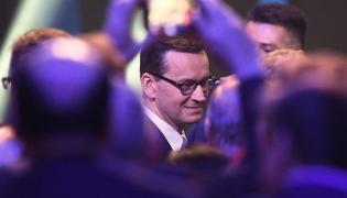 Mateusz Morawiecki na konwencji PiS