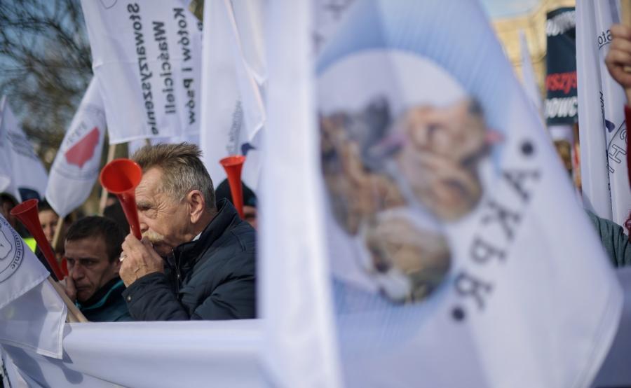 Protest rolników przed Sejmem