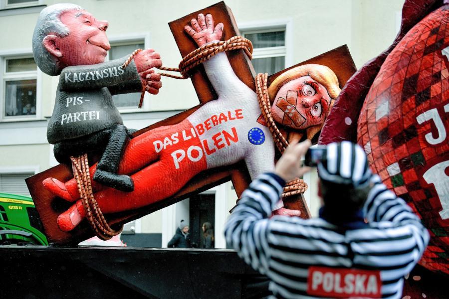 Karykatura Jarosław Kaczyńskiego