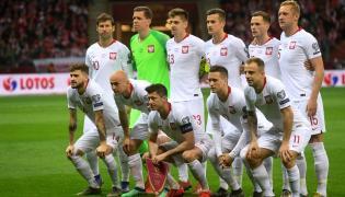 Piłkarze reprezentacji Polski przed meczem eliminacyjnym mistrzostw Europy z Łotwą